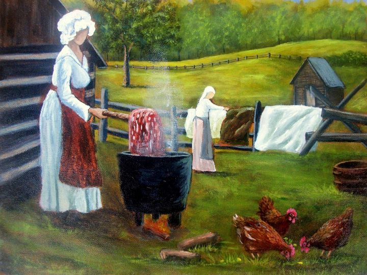Wash day - Tami Booher Appalachian Nature Painter