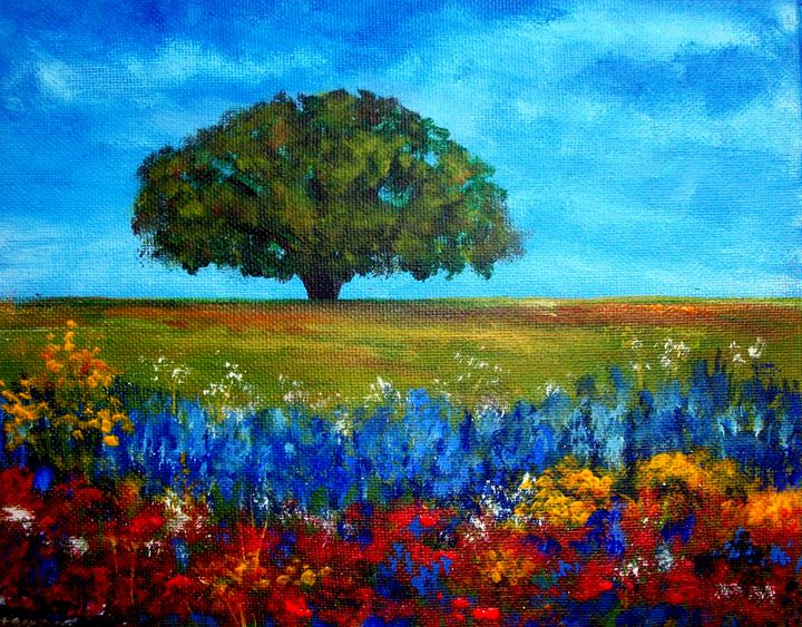 Field of flowers - Tami Booher Appalachian Nature Painter