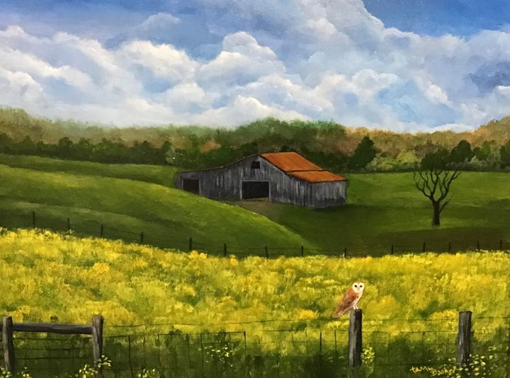 The Watcher - Tami Booher Appalachian Nature Painter