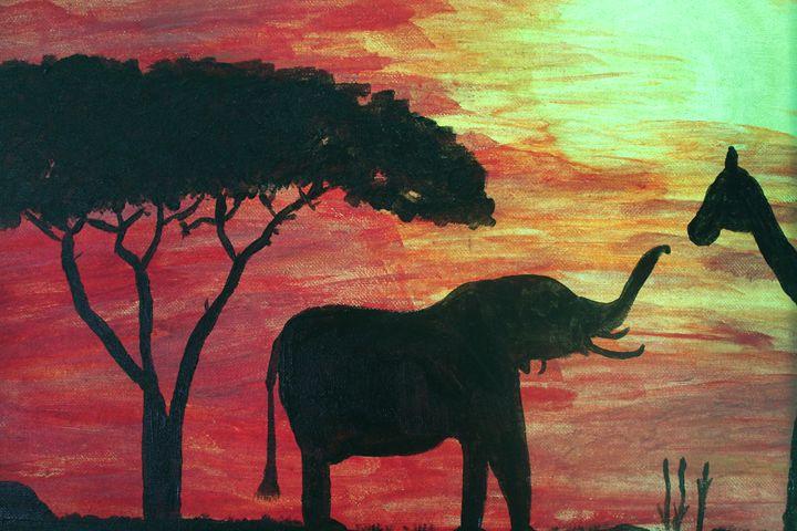 Safari Sunset - Kayla Franklin