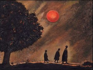 Monks By Moonlight