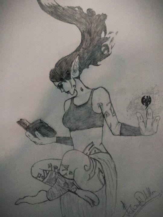 Beautiful witch - Dexi Art