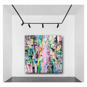 Life is a gift - Huge abstract art
