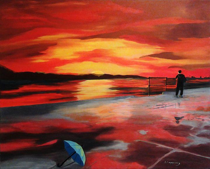 After the rain - Thessaloniki Seafro - Vivi Karakatsani Art