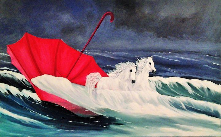 Wave Horses - Vivi Karakatsani Art