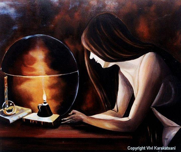 Pondering about the future - Vivi Karakatsani Art
