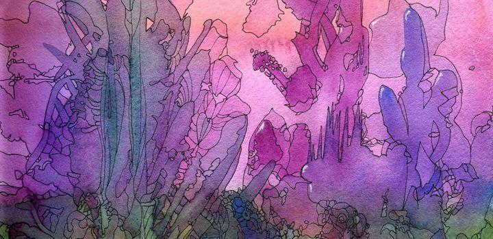 Abstract pink landscape - Christina Rahm Art