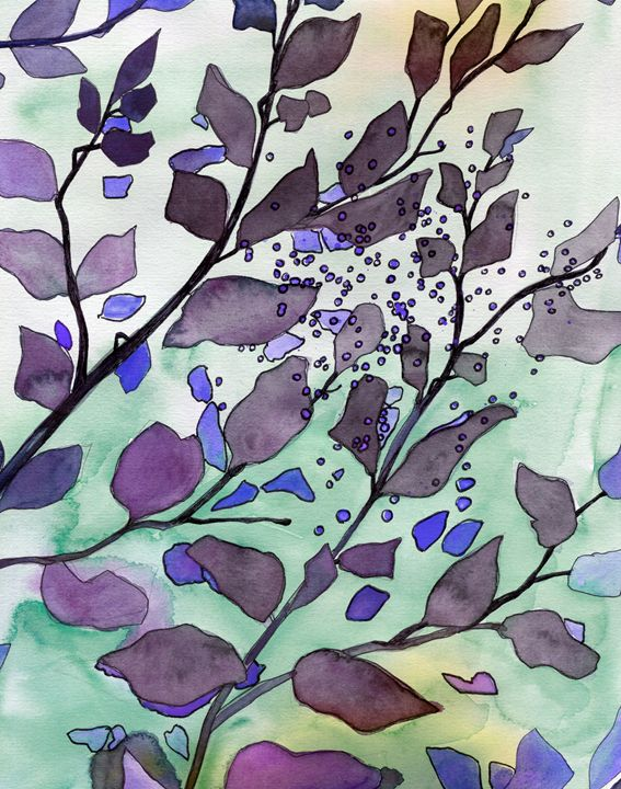 Purple Leaves - Christina Rahm Art