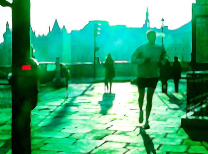 Morning jog - Christina Rahm Art