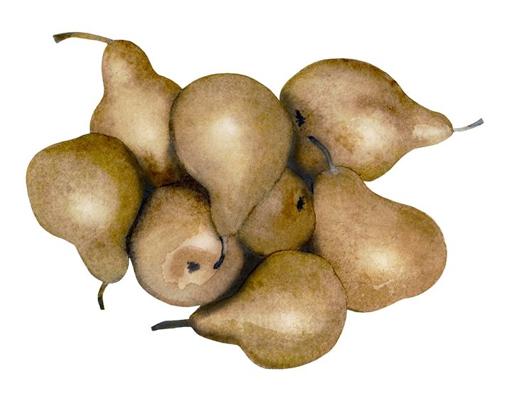 Gold pears - Christina Rahm Art