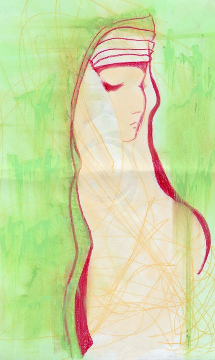 Girl in green - Christina Rahm Art