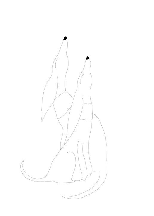 Two dogs - Christina Rahm Art