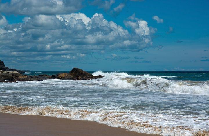 Beautiful waves on paradise beach in - Christina Rahm Art