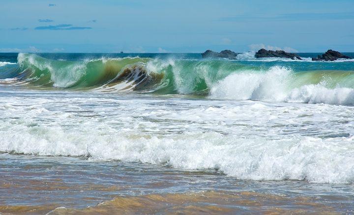 Beautiful waves on paradise beach - Christina Rahm Art