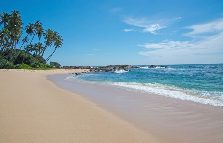 Paradise beach with green turquoise - Christina Rahm Art