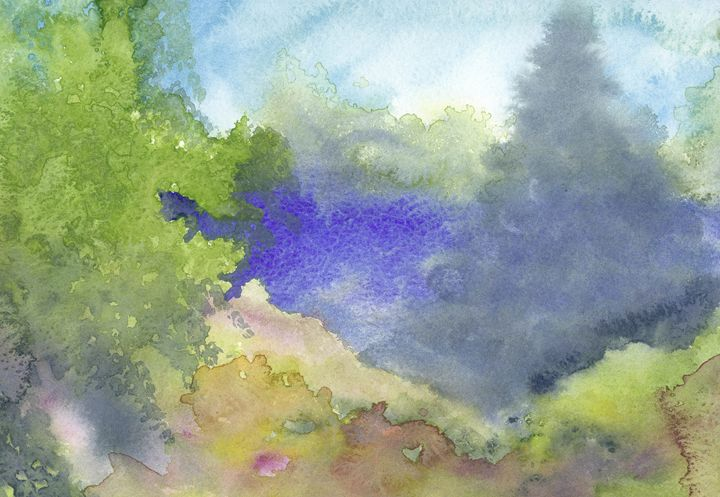 Blue spruce - Christina Rahm Art