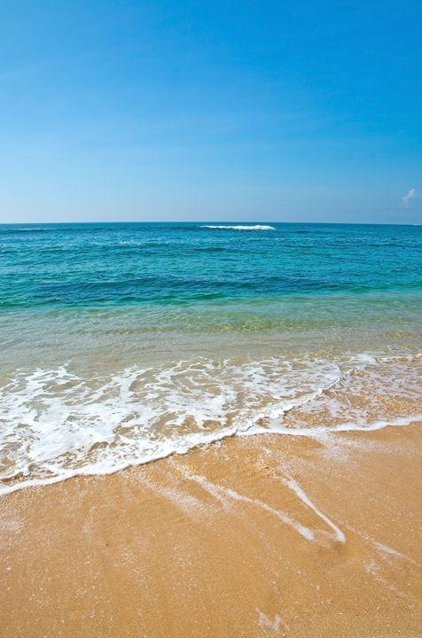 Green blue seascape - Christina Rahm Art