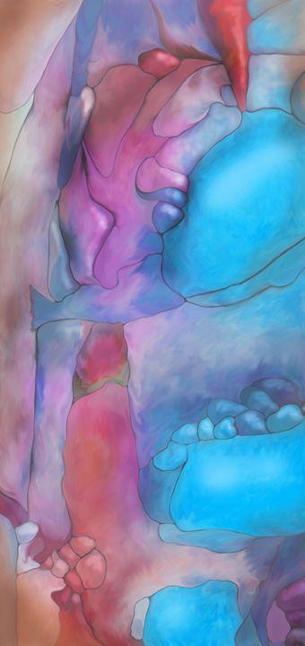 Abstract digital painted fantasy lan - Christina Rahm Art