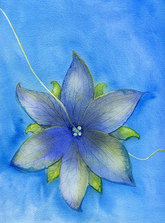 Blue flower - Christina Rahm Art