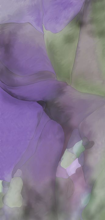 Abstract plant and flower - Christina Rahm Art