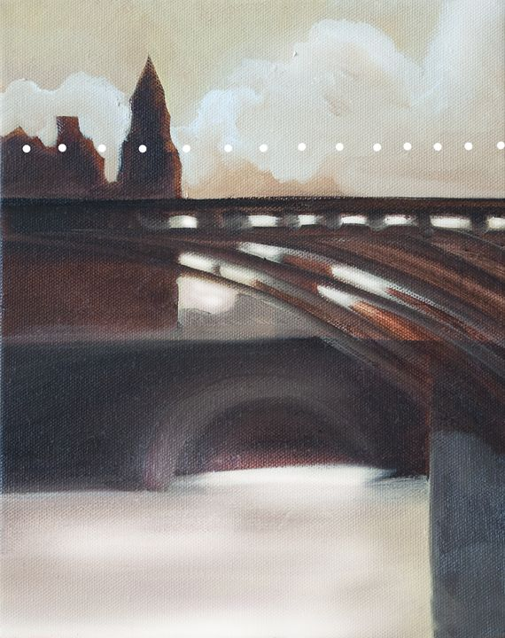 Paris bridge in morning light - Christina Rahm Art