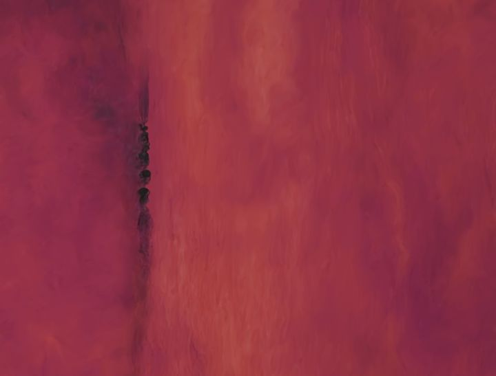 Abstract organic red - Christina Rahm Art