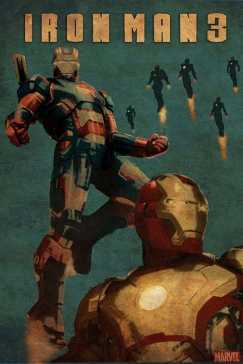 Ironman 3 movie poster - Rateau Gallery
