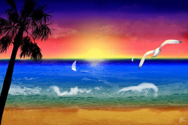 Sunset Beach - Rateau Gallery