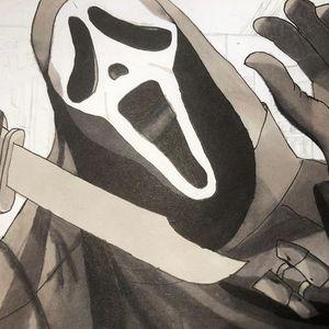Ghostface scarry art