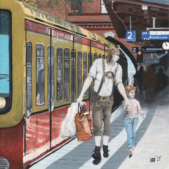 German Elf Train Town Shopping - Helms Art Creations