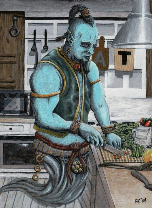 Genie Cooking Kitchen Magic - Helms Art Creations