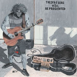Zombie Guitar Musician Busking