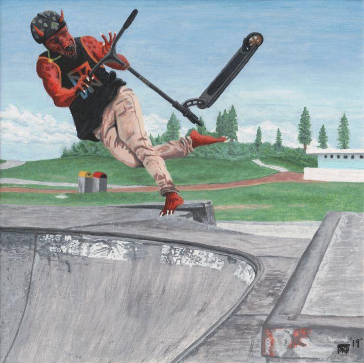 Kobold Kick Scooter Tricks - Helms Art Creations