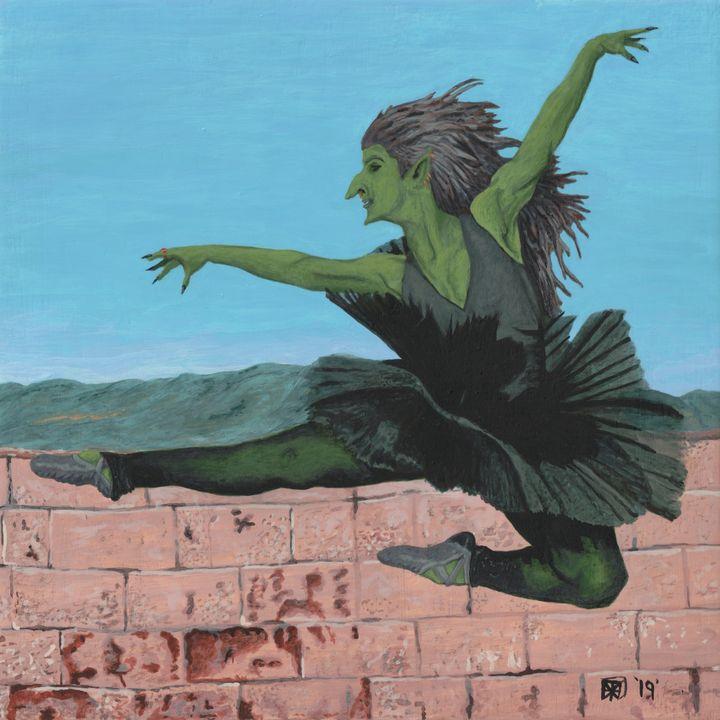 Goblin Girl Dancing Ballerina - Helms Art Creations