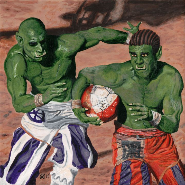 Orc Gladiator Football - Helms Art Creations