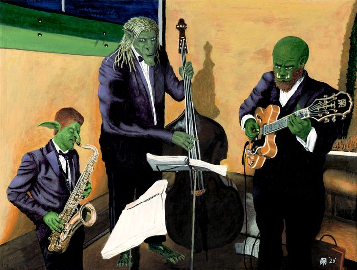Fantasy Jazz Blues Musicians - Helms Art Creations