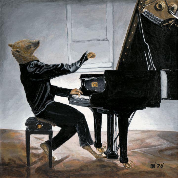 Hyena Piano Music Player - Helms Art Creations