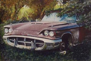 1960 Ford Thunderbird abandoned