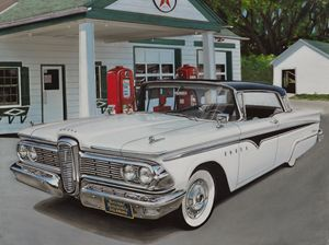 1959 Edsel Ranger at Texaco - Paul Kuras