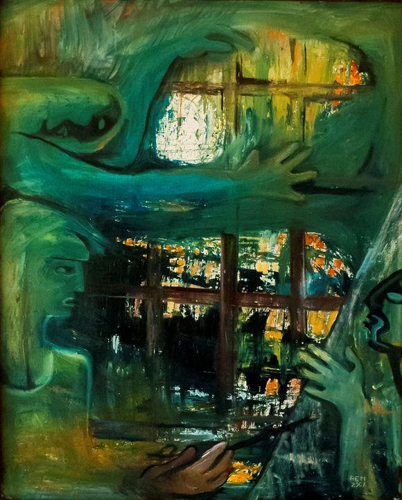 Painter and Model - Bildo Fabriko