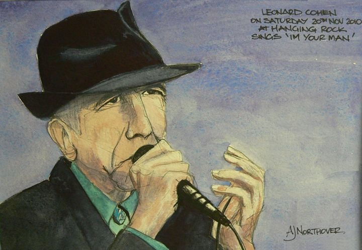 Leonard Cohen @ Hanging Rock - White Dog Studio - AJ Northover