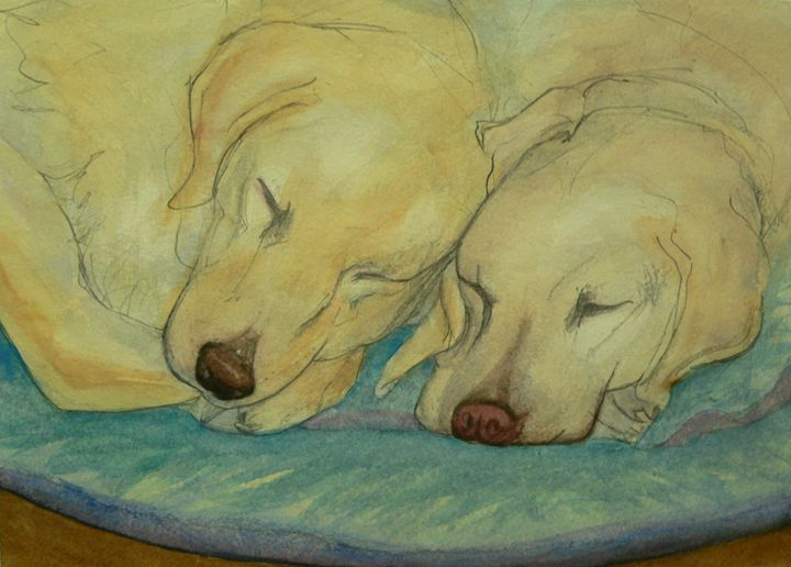 Two Labs are better than one - White Dog Studio - AJ Northover