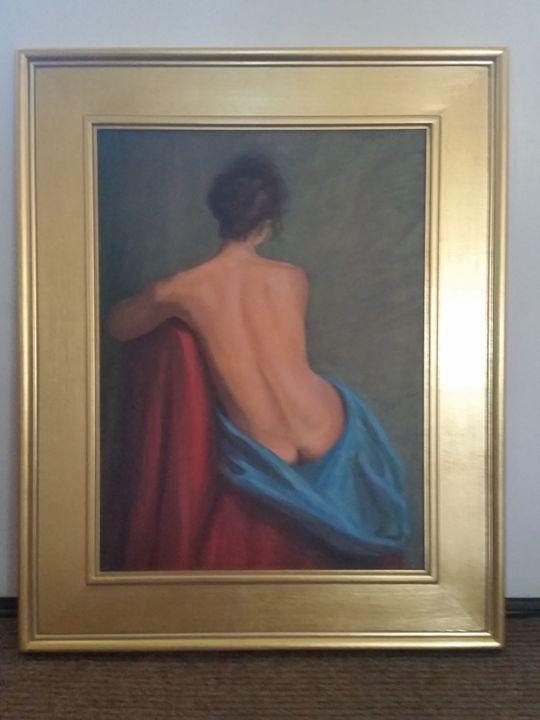 Azure Drape - oil painting