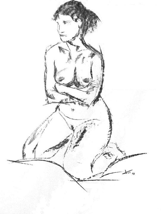 Kneeling nude - Alexandre Nezeys Tacconi