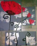 Abstraction florale de coquelicot