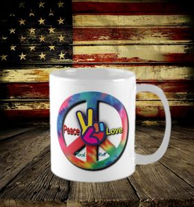 Peace Sign coffee mug - Ozark Mountain Designs