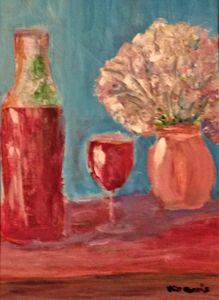 WINE AND VASE