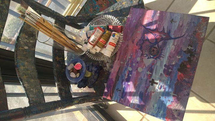 Art Work Space Cadet in Art form - Rock Csilla