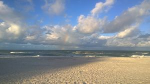 Rainbow Through Clouds Gulf Of Mex