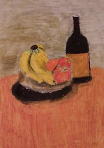 Fruit and wine still life